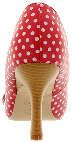 Dancing Days Women's Court Shoes Red-White shebXmbGB8