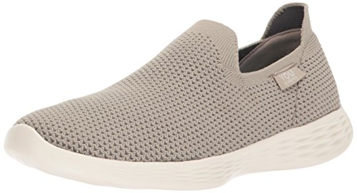 Skechers Performance Womens You Define Sneaker  Taupe  9 5 M Us