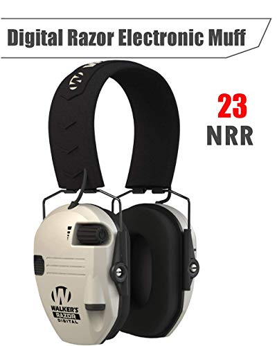 Walkers Digital Razor Electronic Muff (NRR 23dB) Dynamic Sound Suppression and Superior Clear Digital Sound