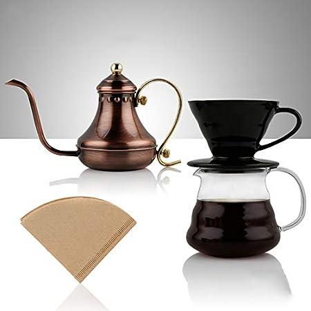 Vierta sobre el juego de hervidor de café, café de acero ...