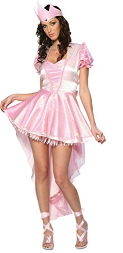 Cinema Secrets Womens Storybook Glinda Ballerina Witch Theme Party Fancy Costume, L (14-16)