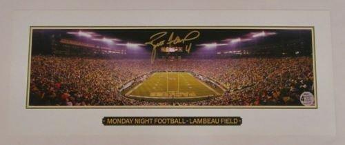 Football Brett Favre Official - BRETT FAVRE PACKERS SIGNED POSTER MONDAY NIGHT FOOTBALL MINI 18