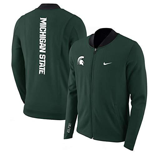 Nike Men's Dry Elite Green Dri Fit Michigan State Spartans Showtime Full Zip Jacket (Medium)