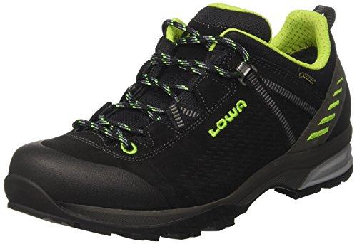 Lowa Arco GTX Lo, Stivali da Escursionismo Alti Uomo Nero (Schwarz/Limone 9903)