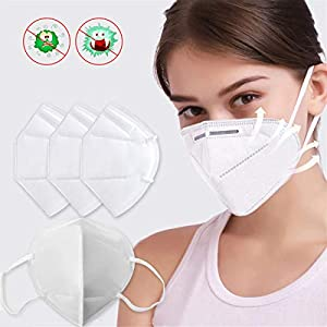 20pcs N95 Safety Masks, Dust Masks Disposable Anti Pollution Mask,Safety Protection Face Mask for Virus Protection, Fire Smoke, Sanding, Gardening, Mowing