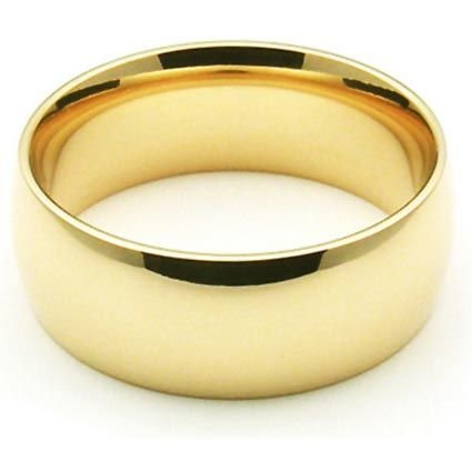 14k Yellow Gold 7mm Comfort Fi