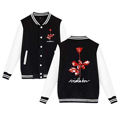 Reppusily Unisex Depeche Mode Violator Classic Baseball Uniform Sport Coat Black