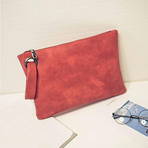 Embrayage Sac Red de Main Femmes Simple Paquet Clutches à En Cuir Mode Rétro Sac YUYOUG Soirée Enveloppe wnazzTgHS8