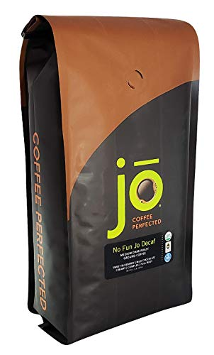 NO FUN JO DECAF: 2 lb, Organic Decaf Ground Coffee, Swiss Water Process, Fair Trade Certified, Medium Dark Roast, USDA Certified Organic, NON-GMO, Chemical Free, Gluten Free Arabica Coffee (Best Ground Coffee Reviews)