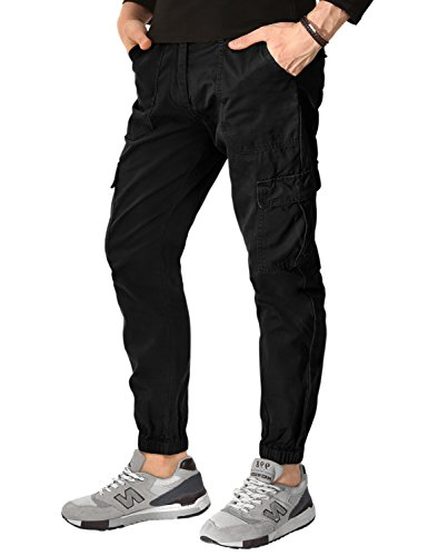 Match Men's Chino Jogger Pants(32, 6024 Black)