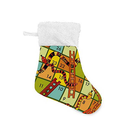 MECIKR Christmas Stockings Winning A Snakes and Ladders Game 4 Pcs/6 Pcs for Xmas Party Decoration