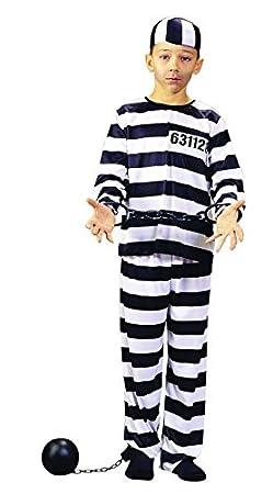 Foxxeo Traje de Prisionero Prisionero Prisionero para niños, tamaño: 164-170