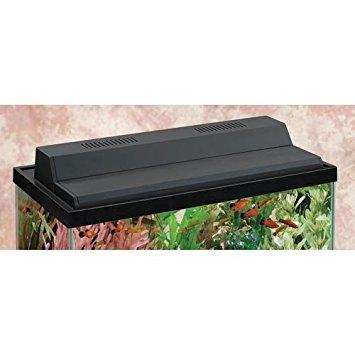 Perfecto Manufacturing APF77205 Marineland Incandescent Recessed Full Lighting Hoods for Aquarium, 20-Inch, Black