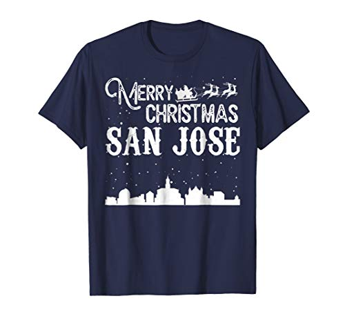 Merry Christmas Y'all San Jose City T-Shirt -