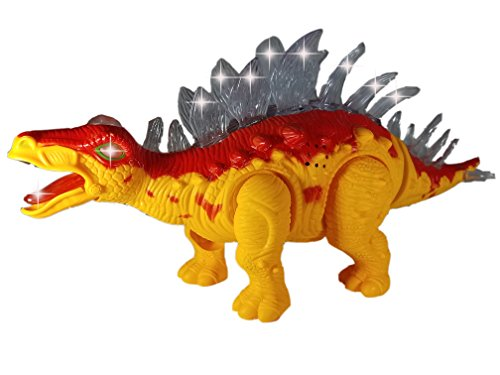 Walking Dinosaur Toy for Kids - Battery Operated Jurassic Stegosaurus Kids Toy | Roaring, Walking, Tail Wagging, and Glowing | Perfect Toy Gift for Kids (Colors May Vary, Age 3+)
