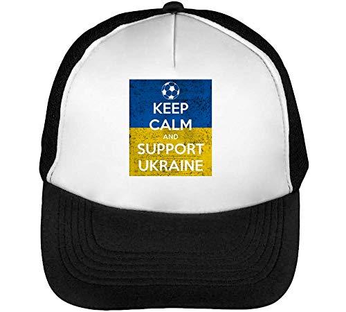 Snapback Ukraine Beisbol Hombre Negro Gorras Support Keep Blanco Calm xSFwq7Sz