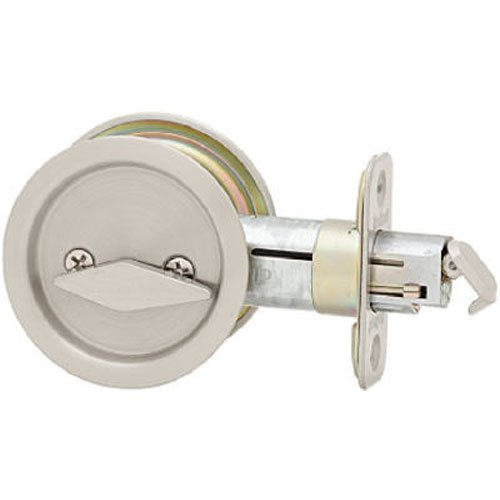Kwikset 335 Round Privacy Bed/Bath Pocket Door Lock (Pocket Nickel Door Lock)