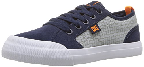 - DC Boys' Evan SE Skate Shoe, Navy/Grey, 7 M US Big Kid