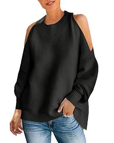 PRETTYGARDEN Batwing Crewneck Shoulder Pullover product image