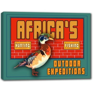 AFRICA'S Outdoor Expeditions Stretched Canvas Sign 24