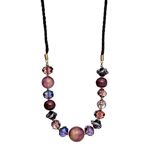 """Lova Jewelry """"Plum Fun"""" Hand-Blown Venetian Murano Glass ()"""