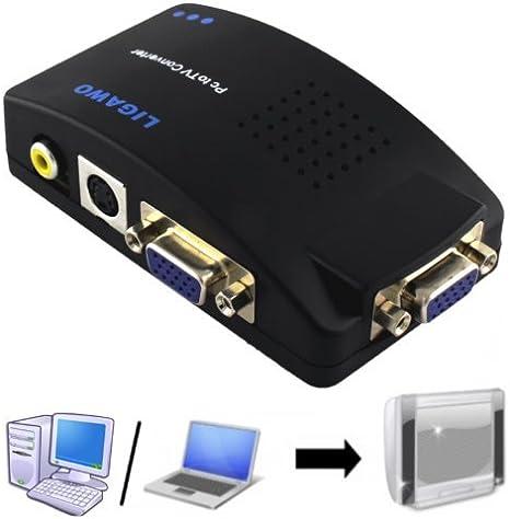 Ligawo Pc Tv Konverter Vga Pc Laptop Netbook Notebook Ganz Einfach Mit Dem Tv Oder Beamer Verbinden Heimkino Tv Video