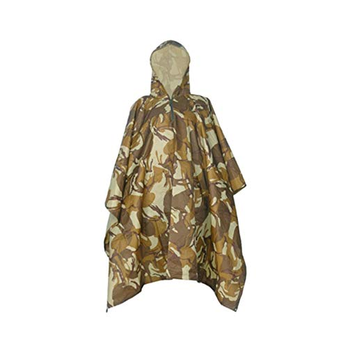 Camouflage Impermeabile Esterno Flower Shell Camouflage Mimetico Jxjjd Desert Soft Poncho colore pv7qwT
