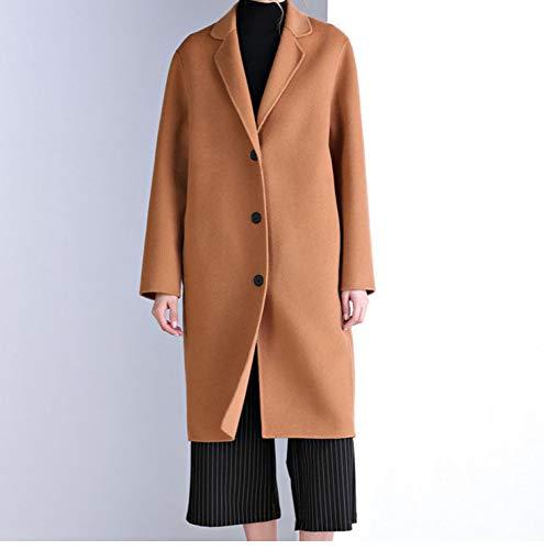 In Double Clothes E Cappotto A Autunno Bottoni Slim Marrone Tre Lana Inverno Face Lungo 2018 SgTUwqTx