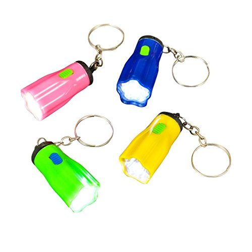 WHOLESALE LOT OF 50 MINI FLASHLIGHT KEYCHAINS BY DISCOUNT PARTY AND NOVELTY by DISCOUNT PARTY AND NOVELTY -