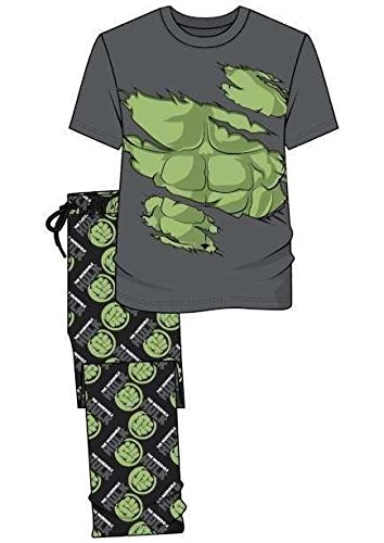 Disney - Pijama - para Hombre Hulk Grey/Green/Black XL