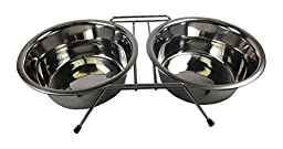 Stellar Bowls Double Diner Rack with Two Bowls, 3 quart