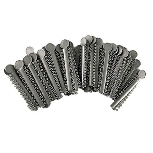 Healifty Anillo de Lazos de ligadura elástica Dental Palos de ligadura Dental 40pcs (Gris)