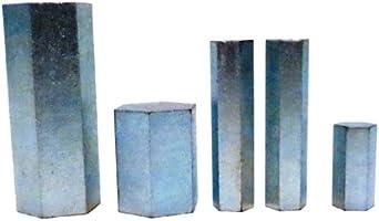 United Scientific, 5-piece Steel Hexagonal Mass Metric Weight Set, (4098)