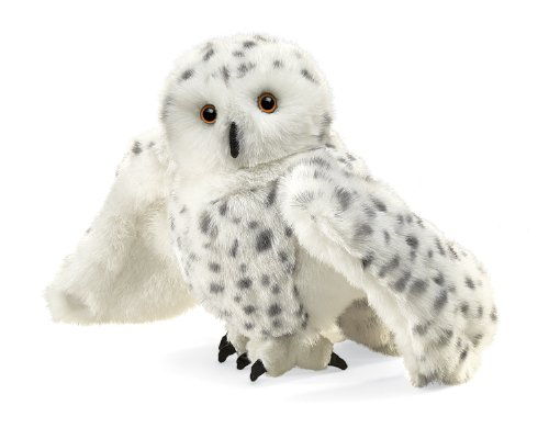 Folkmanis Snowy Owl Hand Puppet (Folkmanis Puppet Cat Hand)