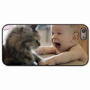 iPhone 5 5S Black Hardshell Case playful Desin Images Protector Back Cover