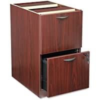 basyxamp;reg; - BL Laminate Two-Drawer Pedestal File, 15-5/8w x 21-3/4d x 27-3/4h, Mahogany - Sold As 1 Each - Not freestanding, attaches under worksurface.