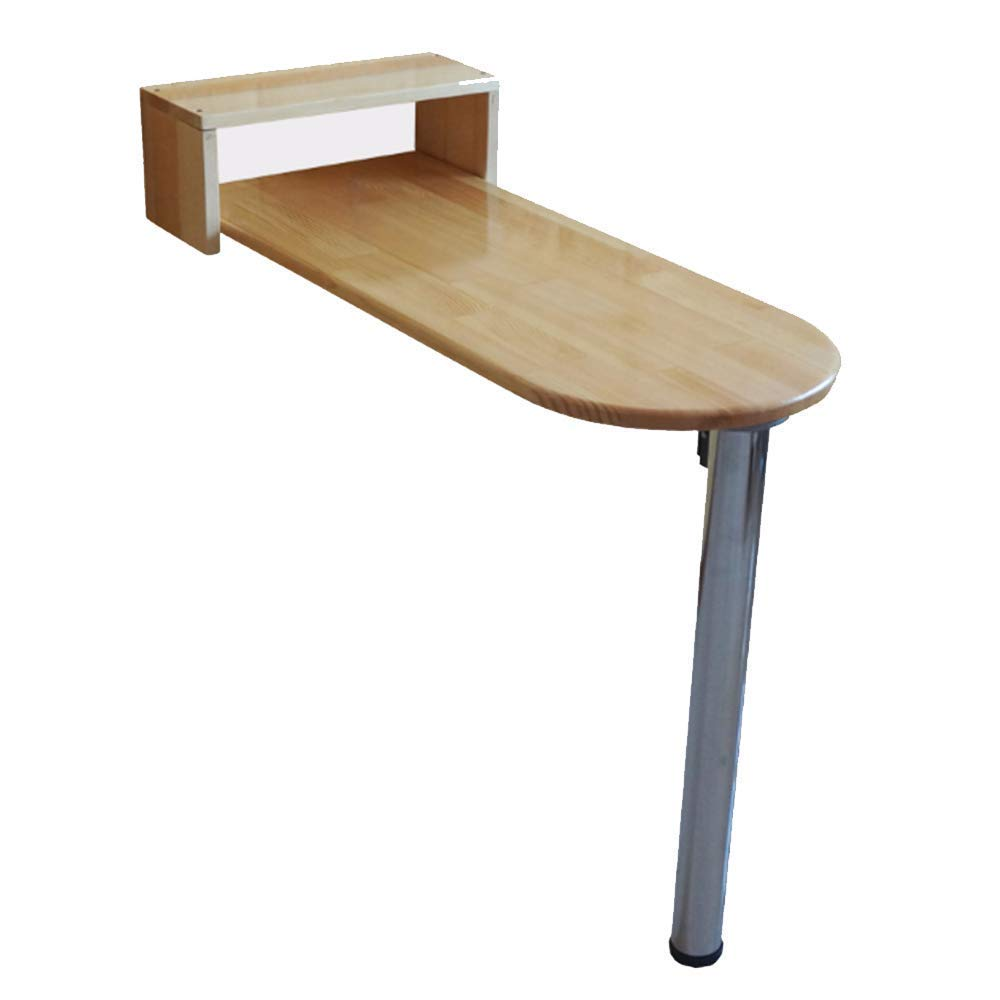 11530111cm BJYG Table Pliante en Bois Massif Table de Salle à Manger Table de Bar familiale 115  40  111cm
