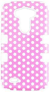 MyBat TUFF híbrido de teléfono protector para cubrir LG G3 - empaquetado al por menor - puntos de rosa / blanco