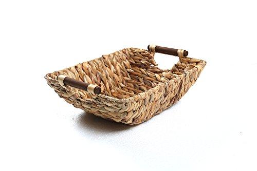15 Hyacinth Wood Handled Basket