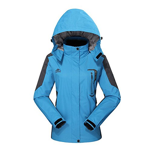 Womens Waterproof Hooded Jacket - Diamond Candy Casual Jackets