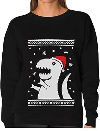 select options to buy teestars big trex santa ugly christmas sweater funny - Funny Ugly Christmas Sweaters For Sale