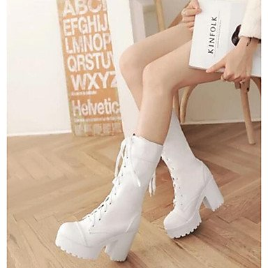 White leather amp;xuezi PU Women's Gll 3 Boots 4in Spring 4 Casual White Fall 4in Comfort Black Nubuck q0Aax8A