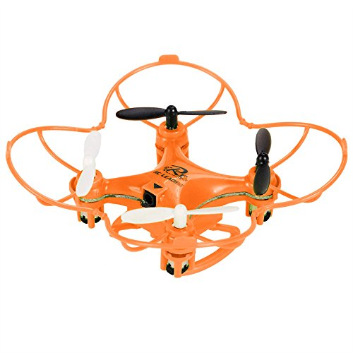 Eshion RC101 2.4G 6 Axis 4 Channels Headless Mode Mini RC Helicopter RC Quadcopter RC Drone for Kids Gifts Toy Drone with LED (Orange)