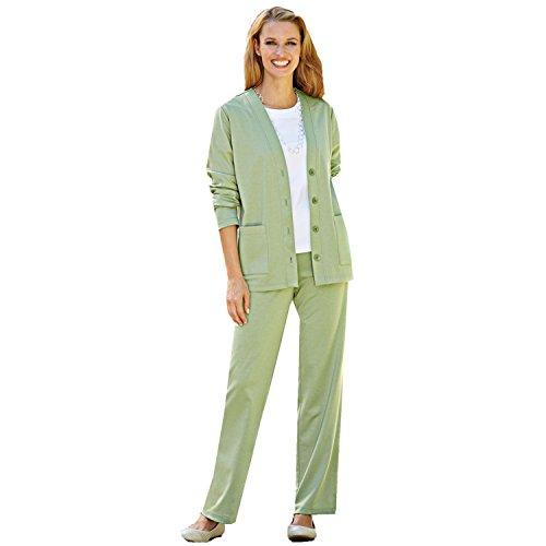 Blair Women's Soft Knit Pants Suit