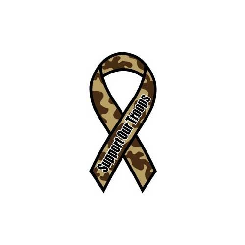 US Flag Store Support Our Troops-Camo Ribbon Magnet
