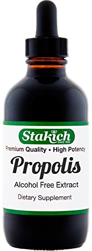 Stakich Bee Propolis 1 Ounce Liquid Extract, Alcohol Free 30% 1 Ounce Liquid Extract