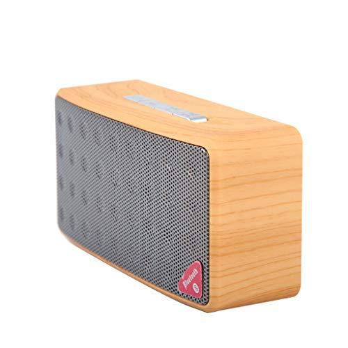 Retro Woodgrain Camo Bluetooth Speaker Portable Mini Wireless Speaker Support Card Radio U Disk Voice Call Tf Card Aux USB Fm