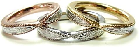 ハワイアンジュエリー リング レディース メンズ 指輪 イエローゴールド 誕生日 プレゼント 17