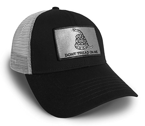 Don't Tread On Me Liberty Gadsden Flag Black and Grey Baseball Cap Hat Snapback