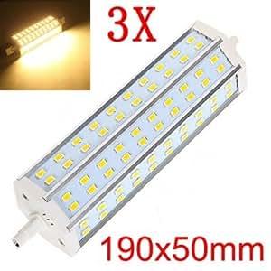 3X R7S 18W 1700-1750LM Warm White 60 SMD 5630 LED Bulbs AC100-265V